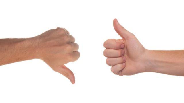 看護師の転職前後を比較した図の上に来る比較を表現する画像
